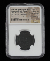 Elagabalus & Julia Maesa AD 218-222 Ancient Roman Empire, Provincial Moesia. AE 5 Marcianopolis Mint (NGC Ch VF) Strike 4/5 Surface 2/5 at PristineAuction.com