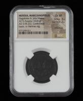 Elagabalus & Julia Maesa AD 218-222 Ancient Roman Empire, Provincial Moesia. AE 5 Marcianopolis Mint (NGC Ch VF) Strike 4/5 Surface 2/5 at PristineAuction.com