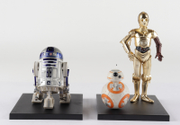 "Set of (3) Kotobukiya Painted ""Star Wars"" C-3PO, R2-D2, & BB-8 Figures With Display Stand at PristineAuction.com"
