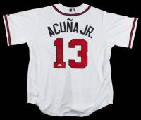 Ronald Acuna Jr. Signed Braves Majestic Jersey (JSA COA) at PristineAuction.com
