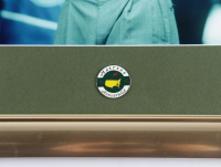 Tiger Woods 13x16 Custom Framed Photo Display with 2005 Masters Tournament Pin at PristineAuction.com