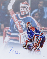Grant Fuhr Signed Oilers 16x20 Photo (Beckett COA) at PristineAuction.com