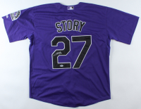 Trevor Story Signed Rockies Jersey (Beckett COA) at PristineAuction.com