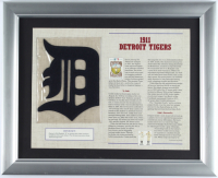 1911 Tigers Commemorative 13x16 Custom Framed Highlight Card with Vintage Patch (See Description) at PristineAuction.com