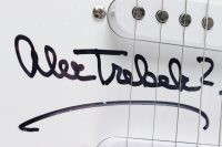 """Alex Trebek Signed """"Jeopardy!"""" Huntington 39"""" Electric Guitar Inscribed """"Who Is?"""" (Beckett COA) at PristineAuction.com"""