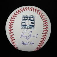 "Greg Maddux Signed Hall Of Fame Logo OML Baseball Inscribed ""HOF 14"" (Beckett COA) at PristineAuction.com"