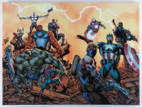 """Ultimate Comics: Avengers #1"" LE 18x24 Giclee on Canvas by Carlos Pacheco and Marvel Comics (PA LOA) at PristineAuction.com"
