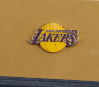 """Elgin Baylor Signed 13.25x16.25 Custom Framed Photo Display with Lakers Pin Inscribed """"HOF 1977"""" (PSA COA) (See Description) at PristineAuction.com"""