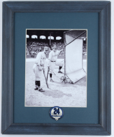 Babe Ruth & Lou Gehrig Yankees 13.25x16.25 Custom Framed Photo Display with Yankees Lapel Pin at PristineAuction.com