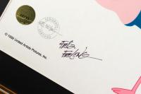 """Friz Freleng Signed """"Pink Panther"""" LE 15.5x17.75 Custom Framed Sericel at PristineAuction.com"""