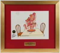 "Friz Freleng Signed ""Pink Panther"" LE 16.25x18 Custom Framed Sericel at PristineAuction.com"