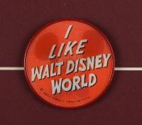 "Vintage Disney World ""Snow White's Adventures"" 15x26 Custom Framed Print Display with Vintage Ticket & Varie-Vue Disney World Pin at PristineAuction.com"