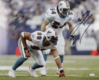 Zach Thomas & Jason Taylor Signed Dolphins 16x20 Photo (JSA COA) at PristineAuction.com