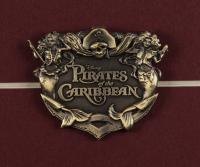 "Vintage Disneyland ""Pirates of the Caribbean 15x26 Custom Framed Print with Disney Dollar & Ride Pin at PristineAuction.com"