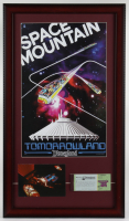 "Disneyland ""Space Mountain"" 15x26 Custom Framed Print Display with Vintage Ticket Book & Postcard at PristineAuction.com"
