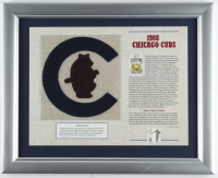 1908 Cubs Commemorative 13x16 Custom Framed Highlight Card with Vintage Patch (See Description) at PristineAuction.com