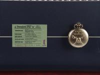 "Disney World ""Pirates of the Caribbean"" 15x26 Custom Framed Print with Pirates of the Caribbean Souvenir Pocket Watch & Vintage 'E' Ticket at PristineAuction.com"