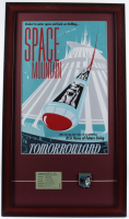 "Disneyland ""Space Mountain"" 15x26 Custom Framed Print Display with Vintage 'E' Ticket & Space Mountain Pin at PristineAuction.com"