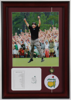 Phil Mickelson 14x20 Custom Framed Photo Display with Official Augusta National Golf Club Scorecard & Pin at PristineAuction.com