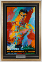"LeRoy Neiman 19x28 Custom Framed ""Muhammad Ali Center"" Vintage Original Ad Display at PristineAuction.com"