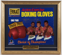 "Muhammad Ali Signed 16x18 Custom Framed Everlast Boxing Glove Advertisement Sign Display Inscribed ""King of All Boxers"" (JSA LOA) at PristineAuction.com"