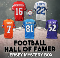 Schwartz Sports Football Hall of Famer Signed Mystery Box Football Jersey Series 16 (Limited to 100) at PristineAuction.com