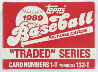 """1989 Topps Baseball """"Traded"""" Series Card Box with (132) Cards (See Description) at PristineAuction.com"""