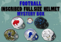 Schwartz Sports INSCRIBED Football Full-Size Helmet Signed Mystery Box - Series 2 (Limited to 100) - ALL HELMETS ARE INSCRIBED!!! at PristineAuction.com