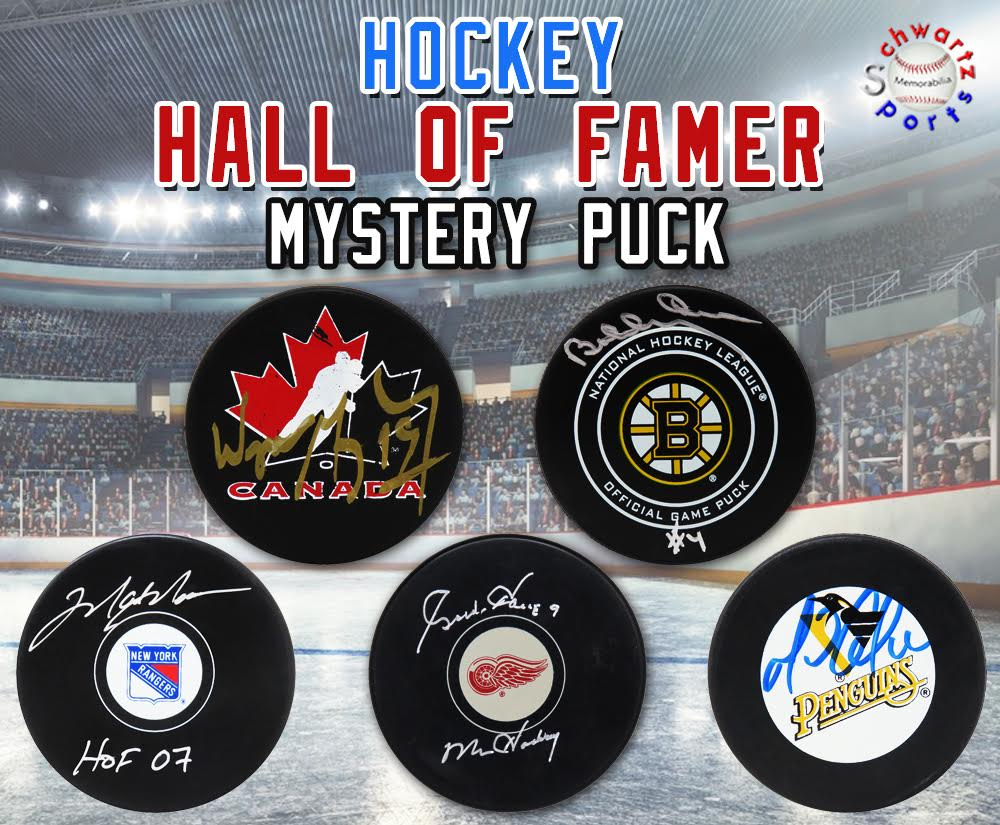 Schwartz Sports Hockey Hall of Famer Signed Logo Hockey Puck Mystery Box - Series 17 (Limited to 150) at PristineAuction.com