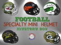 Schwartz Sports Football SPECIALTY Mini Helmet Signed Mystery Box - Series 11 (Limited to 150) at PristineAuction.com