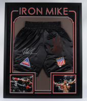 Mike Tyson Signed 34x42 Custom Framed Boxing Shorts (JSA Hologram) (See Description) at PristineAuction.com