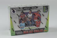 2020-21 Panini Prizm Premier League Soccer Mega Box with (12) Packs (See Description) at PristineAuction.com