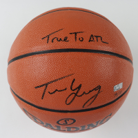 """Trae Young Signed NBA Game Ball Series Basketball Inscribed """"True To ATL"""" (Panini COA) at PristineAuction.com"""