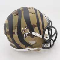 Joe Burrow Signed Bengals Camo Alternate Speed Mini Helmet (Fanatics Hologram) at PristineAuction.com