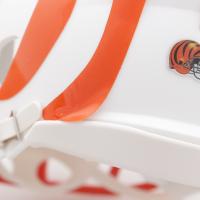 Joe Burrow Signed Bengals Matte White Speed Mini Helmet (Fanatics Hologram) (See Description) at PristineAuction.com