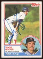 Wade Boggs Signed 1983 Topps #498 RC (Beckett COA) at PristineAuction.com