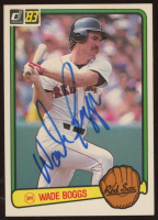 Wade Boggs Signed 1983 Donruss #586 RC (Beckett COA) at PristineAuction.com