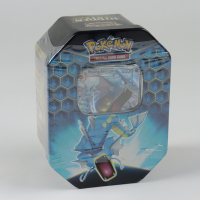 Pokemon TCG: Sun & Moon Hidden Fates Collector's Tin - Gyarados - GX (See Description) at PristineAuction.com