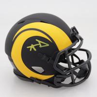 Aaron Donald Signed Rams Eclipse Alternate Speed Mini-Helmet (JSA COA) (See Description) at PristineAuction.com