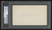 Joe Cronin Signed 3x5 Cut (PSA Encapsulated) at PristineAuction.com