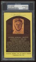 Joe Cronin Signed Hall of Fame Postcard (PSA Encapsulated) at PristineAuction.com