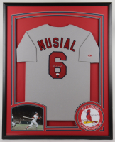 Stan Musial Signed 34x42 Custom Framed Jersey Display (JSA Hologram) at PristineAuction.com
