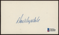 Don Drysdale Signed 3x5 Index Card (Beckett COA) (See Description) at PristineAuction.com