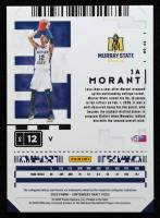 Ja Morant 2020-21 Panini Contenders Draft Picks Cracked Ice Ticket #44 at PristineAuction.com