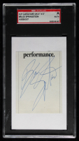 Bruce Springsteen Signed 3x5 Cut (SGC Encapsulated) at PristineAuction.com
