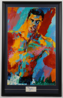 "Muhammad Ali Signed 22x34.5 Custom Framed Cut Display with Leroy Neiman ""Muhammad Ali"" Lithograph (JSA LOA) (See Description) at PristineAuction.com"