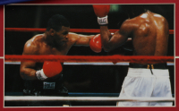 Mike Tyson Signed 27x31 Custom Framed Boxing Trunks Display (PSA COA) at PristineAuction.com