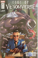 "Stan Lee Signed 2017 ""Edge of Venomverse"" Issue #2 Stan Lee Collectibles Exclusive Chris Stevens Variant Marvel Comic Book (Lee COA) at PristineAuction.com"