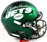 Curtis Martin Signed Jets Full-Size Authentic On-Field SpeedFlex Helmet (PSA COA) at PristineAuction.com