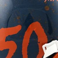 """Mike Singletary Signed Full-Size Authentic On-Field Hydro Dipped Helmet Inscribed """"HOF 98"""" (Beckett COA) (See Description) at PristineAuction.com"""